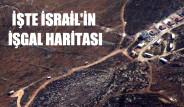 İşte İsrail'in İşgal Haritası