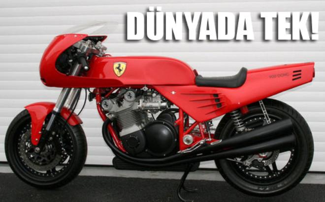 Dünyanın Tek Ferrari Motosikleti