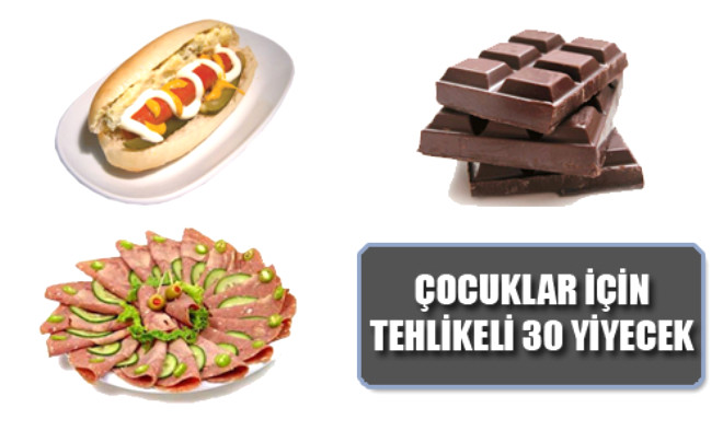 Çocuklar İçin En Tehlikeli 30 Yiyecek
