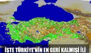 İşte Türkiye'nin En Geri Kalmış İli