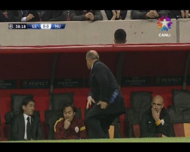 Fatih Terim Manchester Maçında Çıldırdı