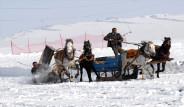 Kar üzerinde atlı spor şöleni