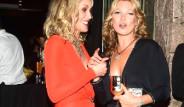 Kate Moss ve Sharon Stone Dudak Dudağa