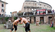 Başpehlivanlar Roma'da!