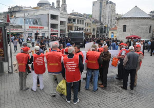 Emekli-Sen Üyeleri, İstiklal Caddesi'ne Yelekle Giremedi