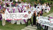 Düğün'de Gezi'ye Destek