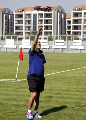 Bursaspor'da Helikopterli Antrenman