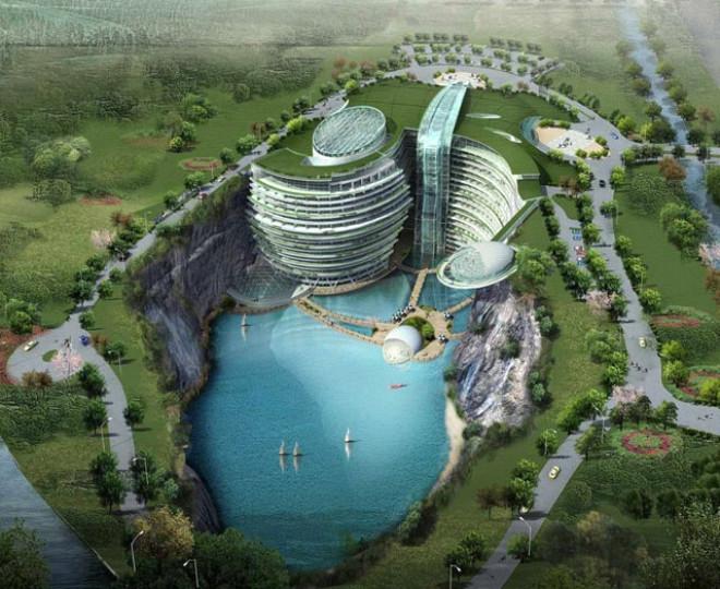 Uluslararası tasarım yarışmasında birinci seçilen bu yapı, Çin