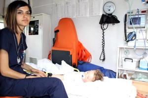 Üzerine Kaynar Su Dökülen Minik Aras'a Ambulans Helikopterli Sevk
