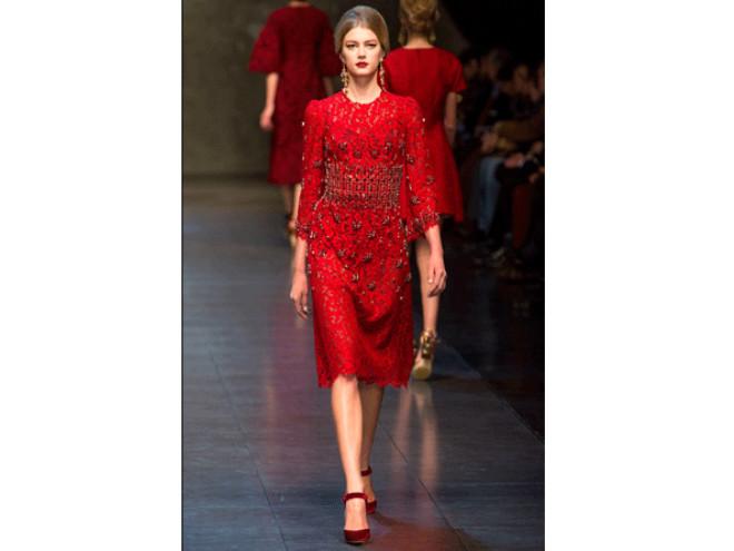 Dolce&Gabbana'dan Kırmızı Şov!