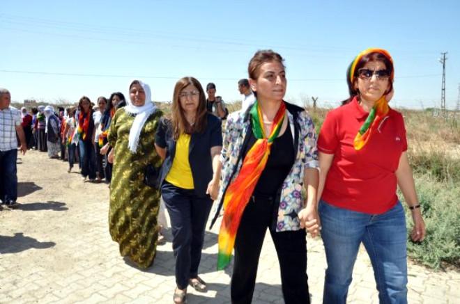 Aysel Tuğluk, Suriye Kürtlerine Yardım İçin Sınırda
