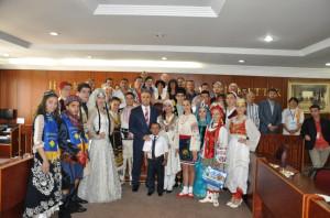Başkan Aktaş Misafir Folklor Ekiplerini Ağırladı