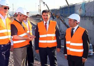 Bakan Ergün'den Körfez Köprüsü İnşaatında İnceleme