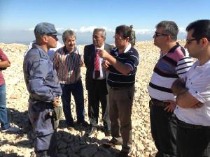 CHP Milletvekilleri Kel Dağı'ndaki Radar Üssü'ne Gitti