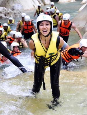 Göynük Kanyonu'nda 40 Bin Tatilci Adrenalin Yaşadı