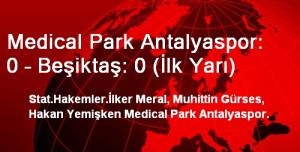 Medical Park Antalyaspor: 0 – Beşiktaş: 0 (İlk Yarı)