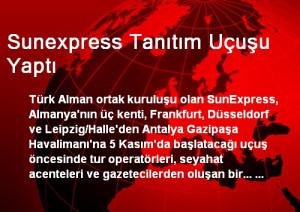Sunexpress Tanıtım Uçuşu Yaptı