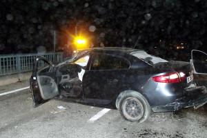 Göksun'da Otomobil Devrildi: 2 Yaralı