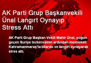 AK Parti Grup Başkanvekili Ünal Langırt Oynayıp Stress Attı