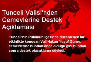 Tunceli Valisi'nden Cemevlerine Destek Açıklaması
