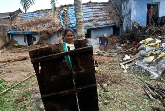 Hindistan'ı Phailin Kasırgası Vurdu