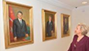 Çankaya Köşkü'nde 10 Cumhurbaşkanına Ait Yağlı Boya Tabloları Sergilendi