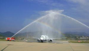 Gazipaşa Sunexpress'in İlk Uçuşunu Karşıladı