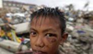 Filipinler'de Meydana Gelen Tayfundan Enkaz Görüntüleri