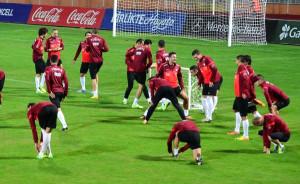 A Milli Takım Hazırlıklarını 5 Ocak Stadı'nda Sürdürdü