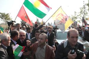 Barzani ve Perver Diyarbakır'da