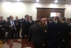 Başbakan Erdoğan, Barzani ve Perver 'Diyarbakır Valiliği'nde