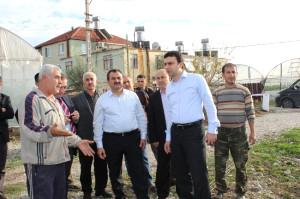 Milletvekili Samani ve AK Parti İl Başkanı Köse Demre'de