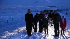 Kar ve Tipi Yolları Kapadı Öğrenciler Mahsur Kaldı