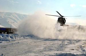 Hamile Kadın, Askeri Helikopterle Kurtarıldı