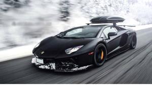Kar Kış Dinlemeyen Lamborghini Aventador
