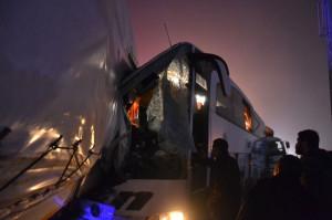 Kulu Makasında Zincirleme Trafik Kazası; 1 Ölü, 28 Yaralı