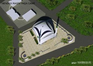 İhtişamlı Caminin Kubbesi Tamamlandı