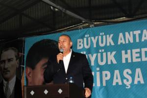 Bakan Mevlüt Çavuşoğlu, Gazipaşa'da Aday Tanıtım Toplantısına Katıldı