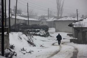 Bulgaristan Sınırı Beyaz Örtü ile Kaplandı