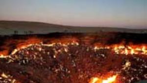 Türkmenistan'daki Krater 43 Yıldır Yanıyor