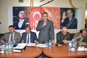Şenkaya AK Parti İlçe Teşkilatı Başkanlığı Yeni Yönetim Tanıtım Toplantısı Yapıldı