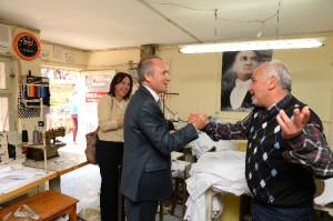 Başkan Evcilmen Esnaf Ziyaretlerine Devam Ediyor