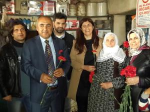 AK Parti'li Beyaz'dan Eşi Vefat Eden Kadınlara Ziyaret