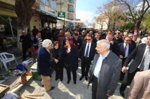 Çerçioğlu ve Yavaşoğlu, Germencik Pazarını Gezdi