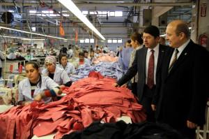 Kalay ve Tunç'tan Tekstil Fabrikalarına Ziyaret