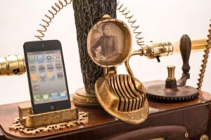 İphone ve Android İçin Steampunk Gramafon