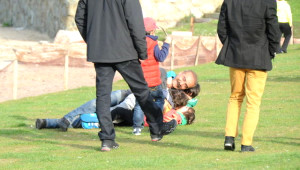 Yılmaz Erdoğan, Çocuklarıyla Eğlendi