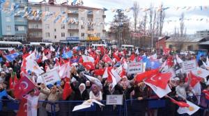 AK Parti Kağızman'da Seçim Mitingini Yaptı