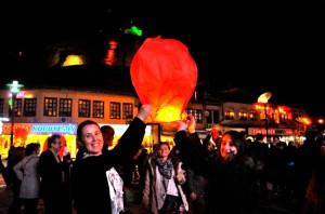 MHP'li Aday, Seçim Öncesi 'Dilek Balonu' Uçurdu