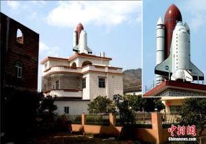 Çinli Adam Çatısına Uzay Mekiği İnşa Etti